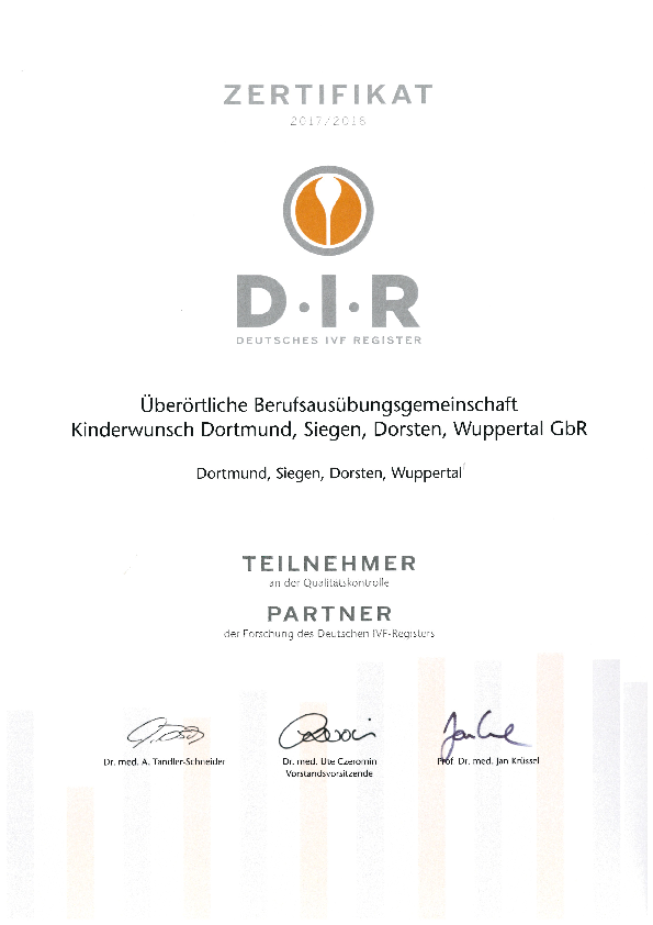 Certification and quality assurance - Kinderwunschzentrum