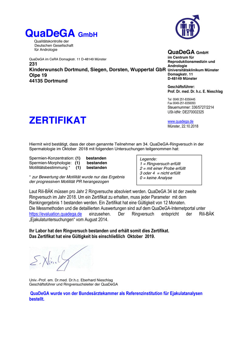 Certification And Quality Assurance Kinderwunschzentrum